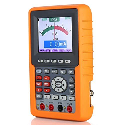 Multimeter, 3 In 1 Digital Oscilloscope Multimeter Frequency Meter Auto Range Handheld Oscilloscopes 20MHz 500M/S Support SCPI Function LATT LIV