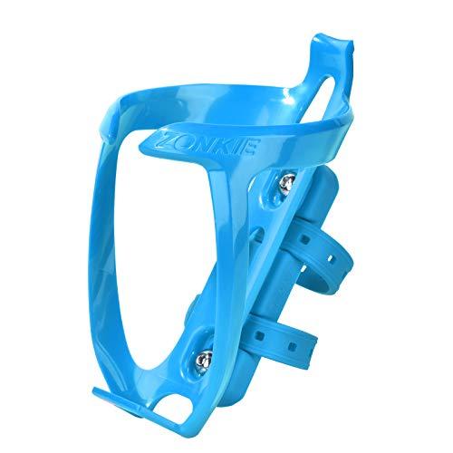 Porta borracce, Portabottiglie per Bicicletta, in plastica, con Base di Montaggio per Cage (Blu)