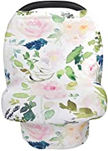 Car Seat Cover, Rquite Nursing Covers Breastfeeding Scarf Infant Carseat Canopy, Universal Fit Stretchy Soft Multi-Use Cover Ups for Stroller High Chair Shopping Cart, Baby Shower Gift for Boys Girls