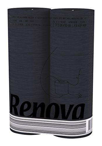 Renova Black Label toiletpapier zwart (2 stuks, totaal 12)