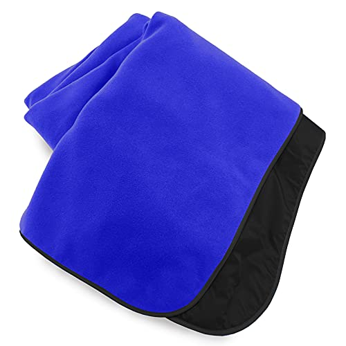Extreme Weather Outdoor Blanket by Mambe - Royal, Large - 100% Waterproof and Windproof - Machine Washable Fleece and Nylon Throw for Activities Like Picnics, Camping, and Beach