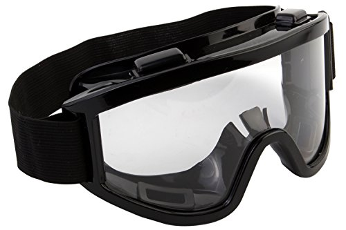 7Trees Adult Motorbike ATV / Dirt Bike Racing Transparent Goggles With Adjustable Strap - Black