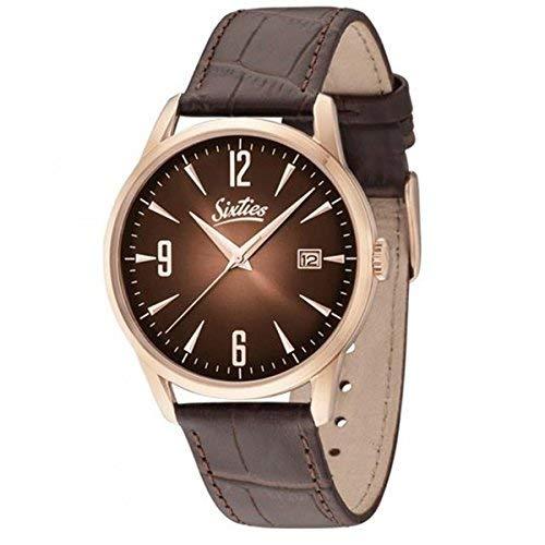 Sixties Unisex-Armbanduhr im Stil der 60er Jahre   Times Change - Style Doesn\'t   Für modebewusste Damen & Herren - Klassische Uhren im coolen Retro-Design