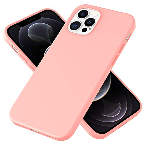 NALIA Carcasa Silicona Suave Compatible con iPhone 12 Pro MAX Funda, Delgado Robusta Cubierta Resistente a la Suciedad con Microflujo, Soft Case Bumper Estuche Protectora Cover, Color:Rosa