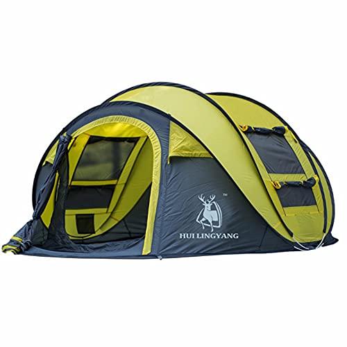 ZHHL Carpa Automática Al Aire Libre Apertura Rápida De Cuenta 3-4 Personas Camping Suministros Al Aire Libre Carpa Esencial Adulto Grande Senderismo Camping Carpa para Niños Yellow