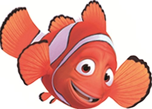 3 Inch Marlin Clownfish Clown Fish Finding Nemo Dad 2 Movie Removable Peel Self Stick Wall Decal Sticker Art Bathroom Kids Room Disney Pixar Home Decor 3 1/2 inch wide by 2 1/2 inch tall