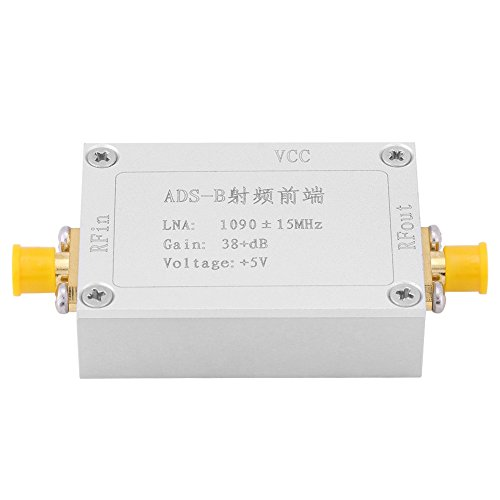 Best Review Of Radio Amplifier LNA High Gain 38dB Low Noise 60dB for RF Front-end ADS-B 1090MHz