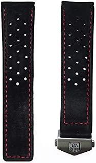 TAG Heuer bracelet en caoutchouc noir pour Monaco Cal 12 CAW21xx