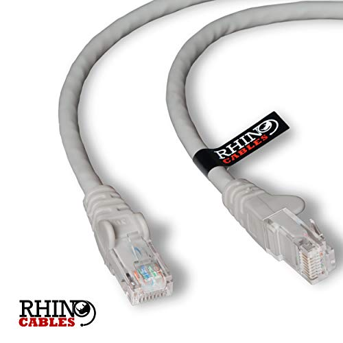 rhinocables CAT6 Gigabit Ethernet Patch Netwerkkabel Snelle RJ45 Breedband Internet LAN Ethernet Lood Snagless RJ45 Connector, voor PC, Gaming, PS3, PS4, Switch, Modem, Router 1.5m Beige