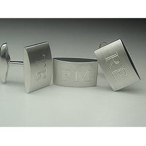 925 Silber Manschettenknöpfe handgemacht mit persönlicher Gravur