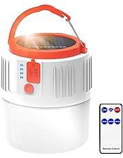 RXLLSY Linterna para Acampar, Luz LED Recargable para Acampar con energía Solar/USB, IP45 Luz Impermeable para Tienda Colgante para Senderismo Camping al Aire Libre Emergencia