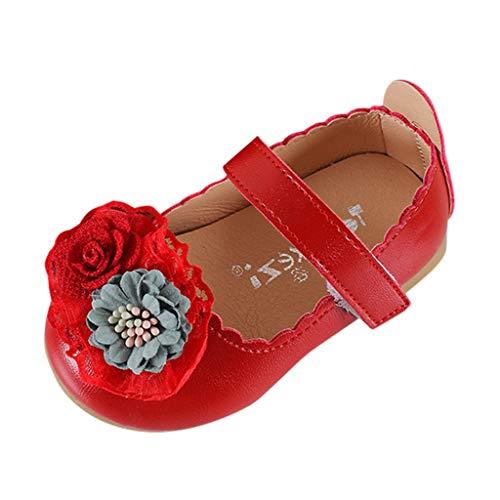 SOMESUN Baby Mädchen Modisch Schnürhalbschuhe Kind Krabbelschuhe Süß Lace Blumen Weich Freizeit Prinzessin Lederschuhe Kleinkind Bequem Einfarbig Schuhe