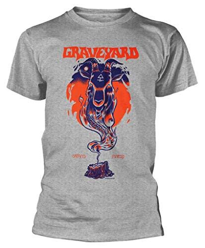 Graveyard 'Satans Finest' (Grey) T-Shirt (x-Large)