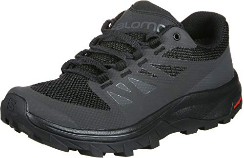 Salomon Damen Outline GTX, Wasserdichte Wanderschuhe, Schwarz (Phantom/Black/Magnet), 41 1/3 EU