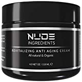 Nude Ingredients Mens Anti Aging Face Cream For Men - Day and Night Cream - Essential Facial Moisturizer for Men - Wrinkle Cream For Men - Cream For Dry Skin - Scented - 4 Ounce