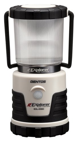 GENTOS(ジェントス) LED ランタン 【明るさ380ルーメン/実用点灯14-150時間/3色切替/防滴】 エクスプローラー SOL-036C 防災 あかり 停電時用 ANSI規格準拠