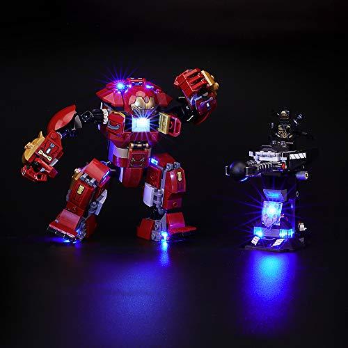 BRIKSMAX Kit de Iluminación Led para Lego Super Heroes Incursión Demoledora del Hulkbuster, Compatible con Ladrillos de Construcción Lego Modelo 76104, Juego de Legos no Incluido