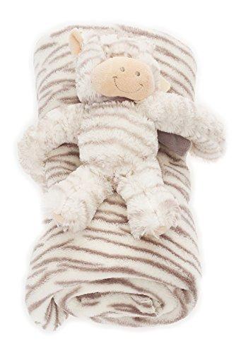 bébé Couverture douce avec Animal en peluche chaud couverture BF 000033 - zèbre