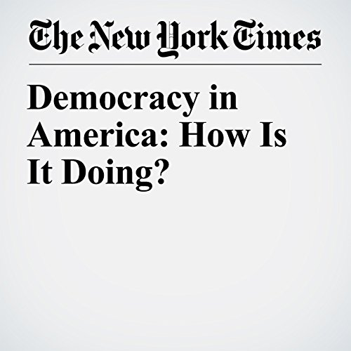Democracy in America: How Is It Doing? copertina