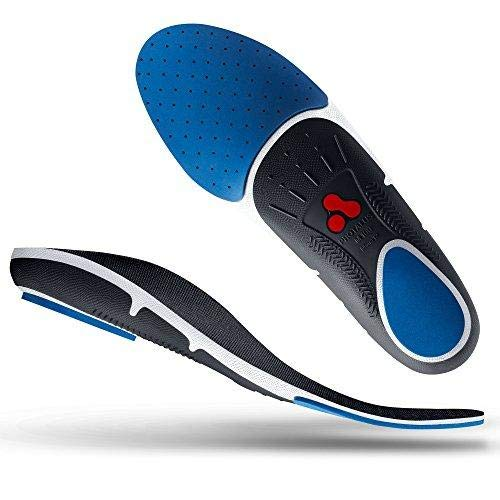 Protalus M100 Max Series– Patented Stress Relief Replacement Shoe Inserts, Increase Comfort, Relieve Plantar Fasciitis, Anti Fatigue, Alignment Improving Shoe Insoles - for Men Size 9.5