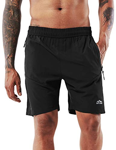 EUCoo Mens Camo Running Shorts Workout Inch Compression Mesh Gym Training Sport Light Tight Pants with Phone Pocket