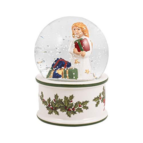 Villeroy & Boch - Christmas Toy's Christkind Schneekugel, kleine Schüttelkugel mit Santa Claus aus Hartporzellan, weihnachtliche Motive, Glaskugel, bunt