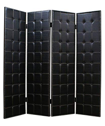 Great Price! HomeRoots 84 X 84 Black Faux-Leather Screen