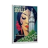 SDFZ Leinwandbild, Motiv Frau aus Sevilla, modernes Büro,