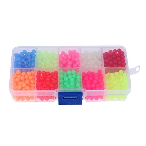 MagiDeal Box von Angeln Leuchtende Perlen 1000 Stück Mehrfarbig Fliegenbinden Perlen