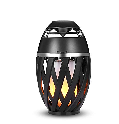 DIKAOU Led flame table lamp, Torch atmosphere Bluetooth speakers&Outdoor Portable Stereo Speaker...