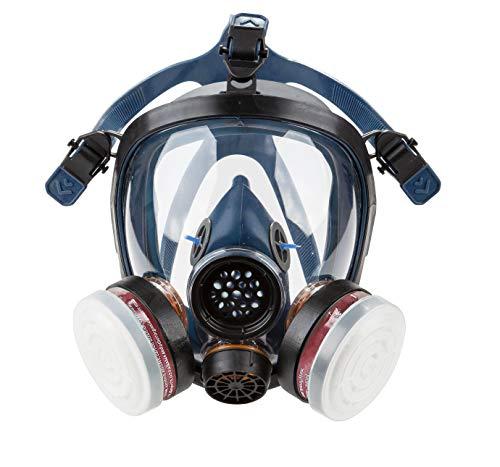 Induschoice Organic Vapor Full Face Respirator Mask Gas Mask Paint Pesticide Chemical Formaldehyde...