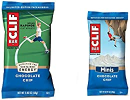 Clif Bar, Chocolate Chip 10 and 10 Mini Energy Made with Organic Oats Plant Based Food Vegetarian Kosher 2.4Oz and...
