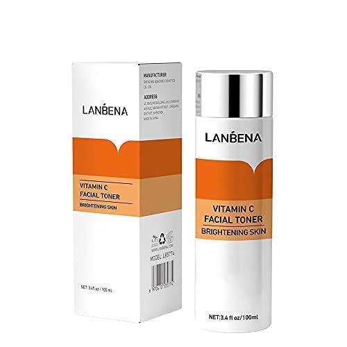Lanbena Vitamina C Facial Virador Hidratante Facial Virador Ph Equilibrio Poro Minimizador Calmante Piel Tratamiento con Anti Envejecimiento Cara Virador por Sensitivo Seco Y Combinación Tipos a