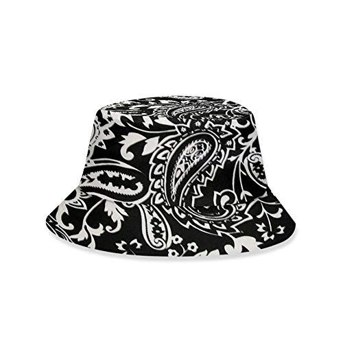 Dontdo All-Match-Outdoor-Sonnenschutz, faltbare Kappe, für Erwachsene und Kinder, Vintage-Stil, 3D-Paisley-Druck, Sommer-Outdoor-Sonnenhut
