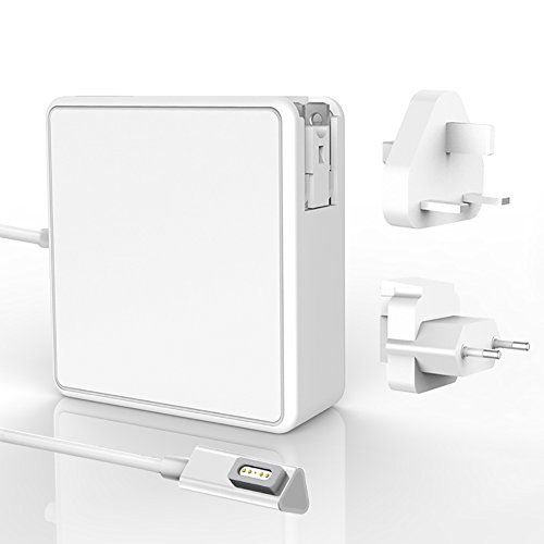 Macbook Air Charger, COOLHOPPE Replacement 45W L-Tip Magnetic Power Adapter Charger Travel Kit for Macbook Air 11' 13''- Mid 2012 Early (US/EU Plugs Include)