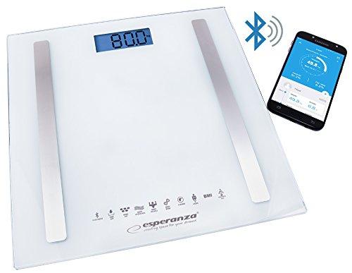 ESPERANZA EBS016W 5901299954089 - EBS016W B.Fit - Bilancia da Bagno Bluetooth 8 in 1, Colore: Bianco
