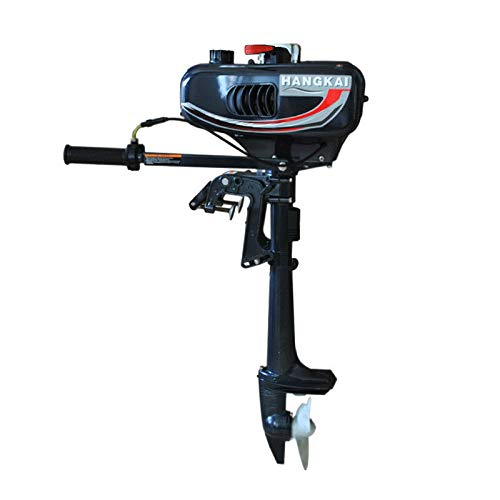 HANGKAI Outboard Motor,2 Stroke 3.5HP Heavy Duty Outboard Motor Boat Engine Fishing Boat Motor w/CDI System+Water Cooled Tank 1.3L US Stock