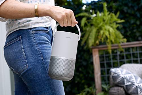 Bose Portable Smart Speaker - mit integrierter Alexa-Sprachsteuerung, in Silber
