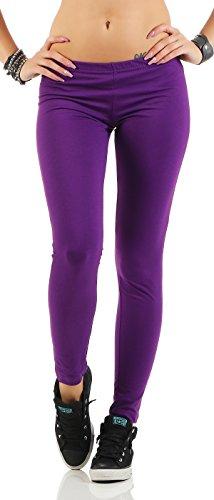 Gennadi Hoppe Damen Leggings Fitness Pant, lila, M
