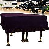koncy Cubierta de Piano de Cola Clásico Pleuche, La Cubierta Antipolvo es Adecuada para Yamaha, Kawai, Boston, Steinway, Casio (Color : Purple, Size : 150-160cm/59-63inch)
