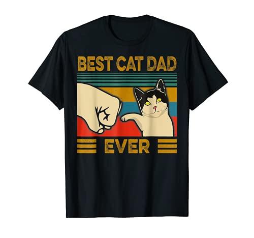 Vintage Best Cat Dad Ever Bump Fit T-Shirt