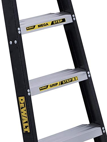 DeWalt 8-Feet Fiberglass Stepladder, 300-Pound Duty Rating, DXL3010-08