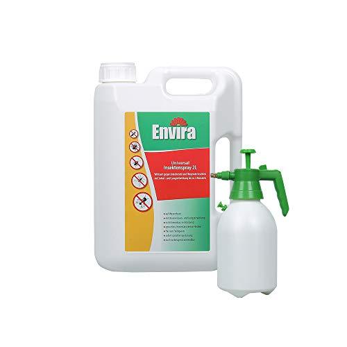 Envira Universal-Insektizid - Hochwirksames Insekten-Spray Mit Langzeitschutz - Auf Wasserbasis - 2 Liter + 2L Sprüher