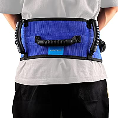 Gait Belt with Multi Handles, Transfer Walking Belt with Quick-Release-Buckle Standing Assist Aid Ambulation Assist Mobility Aid for Elderly, Patient, Seniors, Occupational Physical Therapy by Hotme