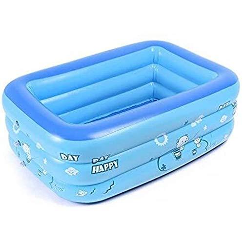 Hancoc Gruesa Plegable Inflable del Baño del Bebé, Piscina del Bebé Azul De Viaje Portátil Ducha Bañera Lactantes Y Los Niños 120 * 70 * 35cm