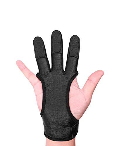 Seakcoik Genuine Leather Three Finger Archery Gloves