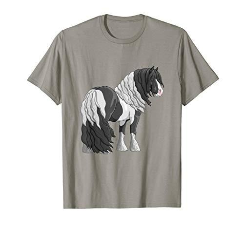 Hübsches schwarz-weiß schecke Tinker Zugpferd Hemd