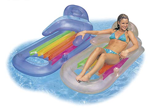 Intex King Kool Lounge Swimming Pool Lounger with Headrest - Set of 2 (Pair)