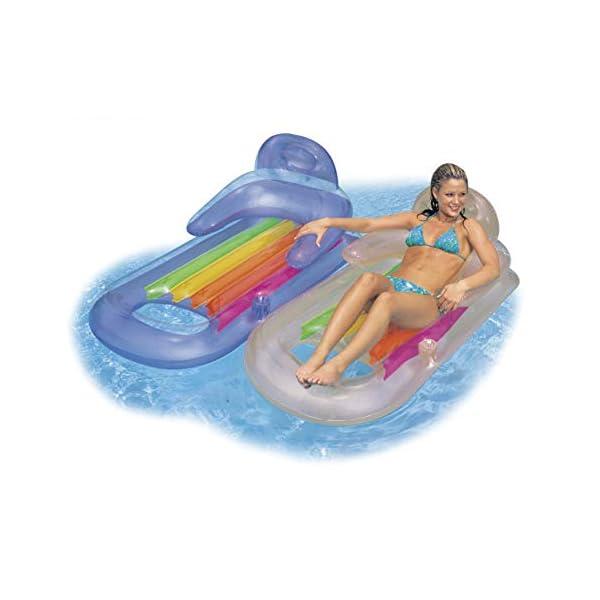 Intex King Kool Lounge Swimming Pool Lounger with Headrest – Set of 2 (Pair)
