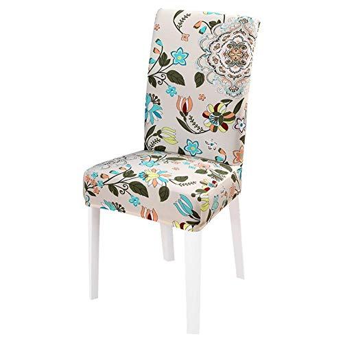 JIAYAN 1/2/4/6 Piezas Fundas para sillas elásticas Impresas Fundas para sillas de Spandex Fundas para Muebles de Comedor Fundas para Fundas para Bodas, A6, Estados Unidos